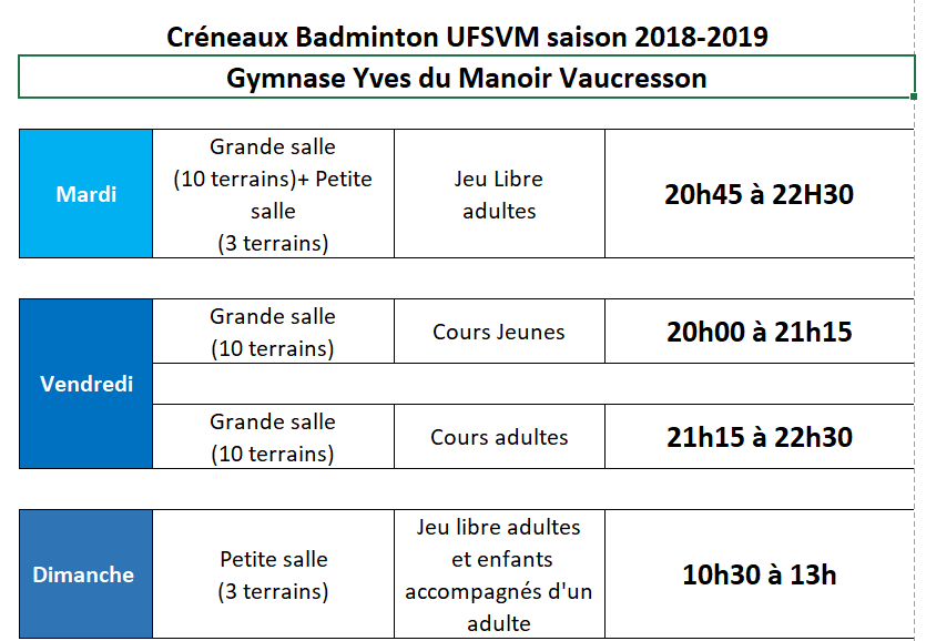 Horaires 2